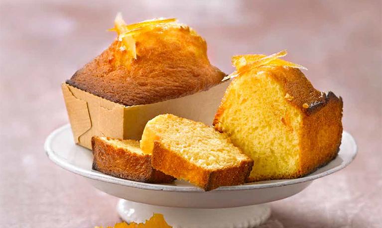 Cake à l'orange et aux zestes confits