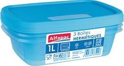 Nouvelles boîtes hermétiques Alfapac