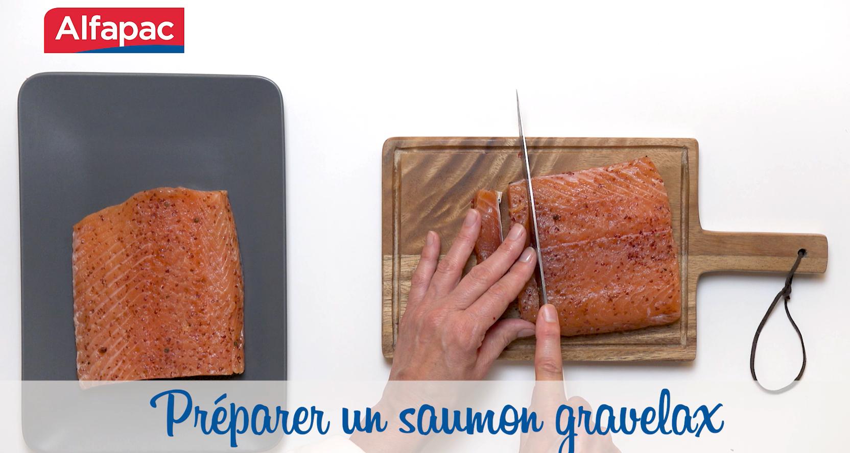 Préparer un saumon gravelax avec le film multi-usages Alfapac