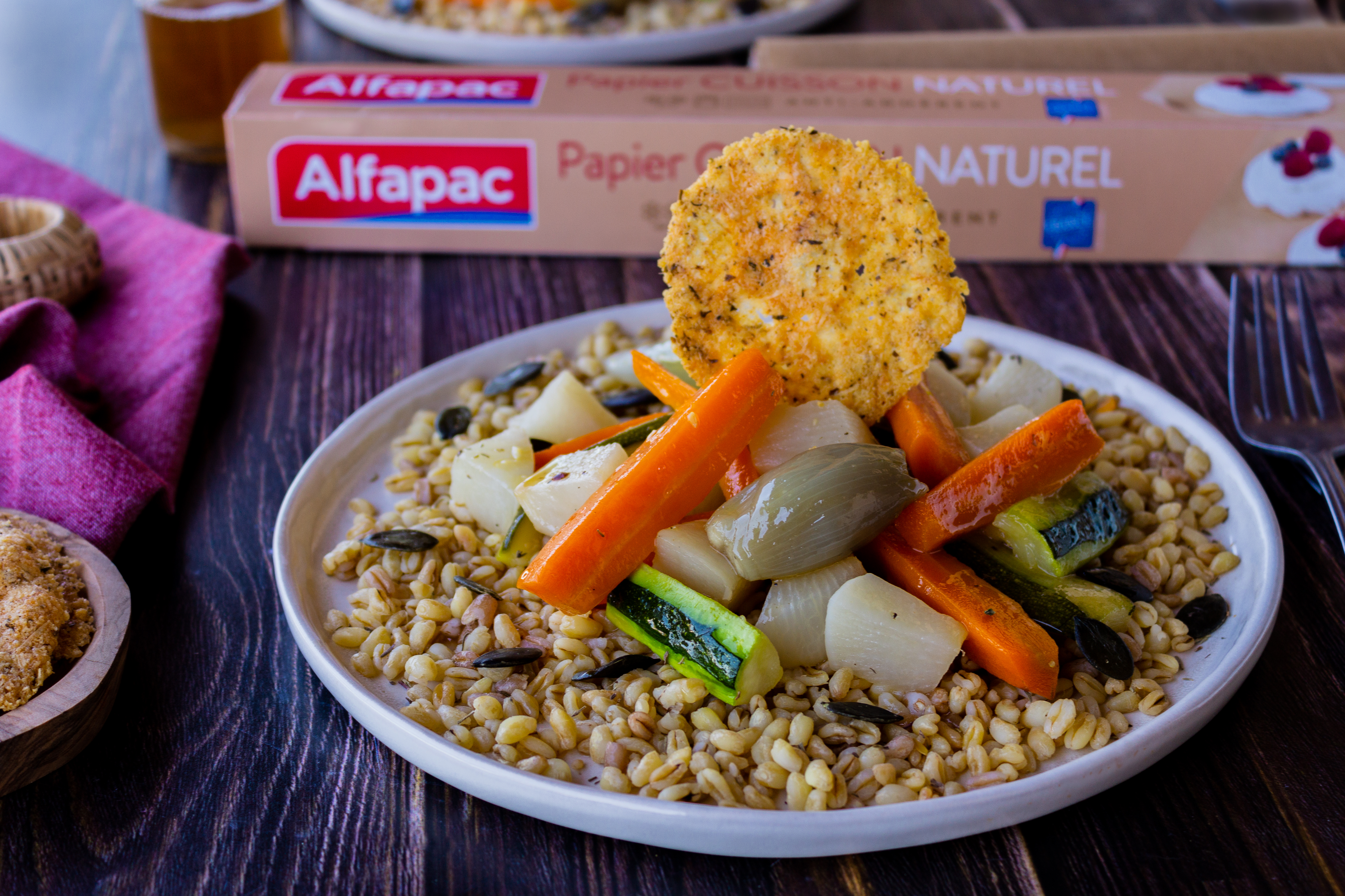 Légumes glacés et tuiles de parmesan – Rutabago